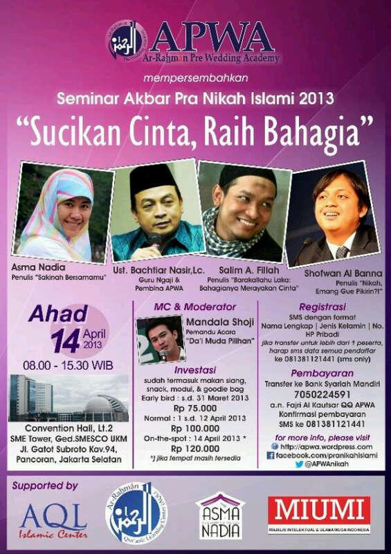 Poster Seminar Pranikah Akbar
